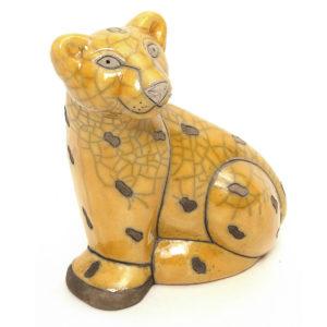Sitting Yellow Leopard