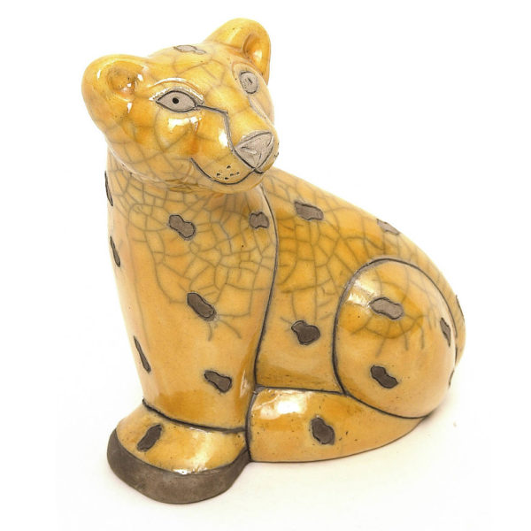 Sitting Yellow Leopard