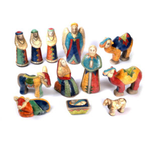 Boxed 12 Piece Nativity Scene
