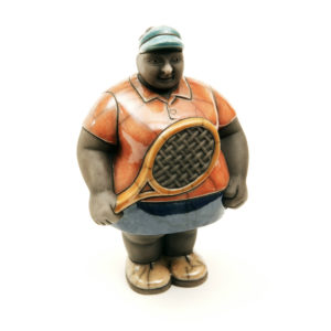 Ms Potbelly Tennis Player (Colours)