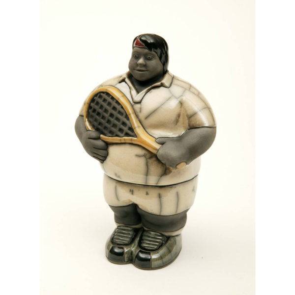 Mr Potbelly Tennis Player (White)