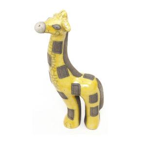 Yellow Gazing Giraffe Small