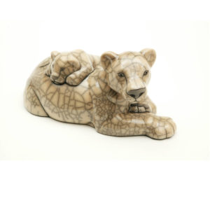 Lioness & Cub (White)