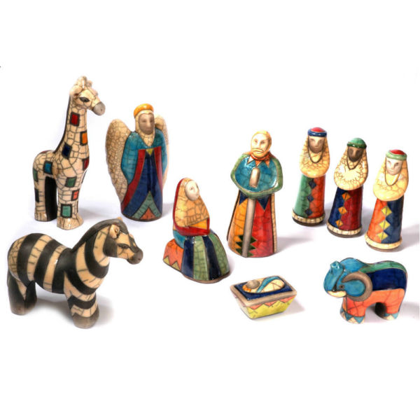 Boxed 10 Piece African Nativity Scene